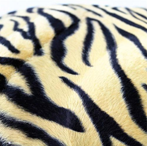 """WOMHOPE 2 Pcs 13"""" 19"""" Fur Covers Animal Style Throw Pillowcase Cushion Covers for"""