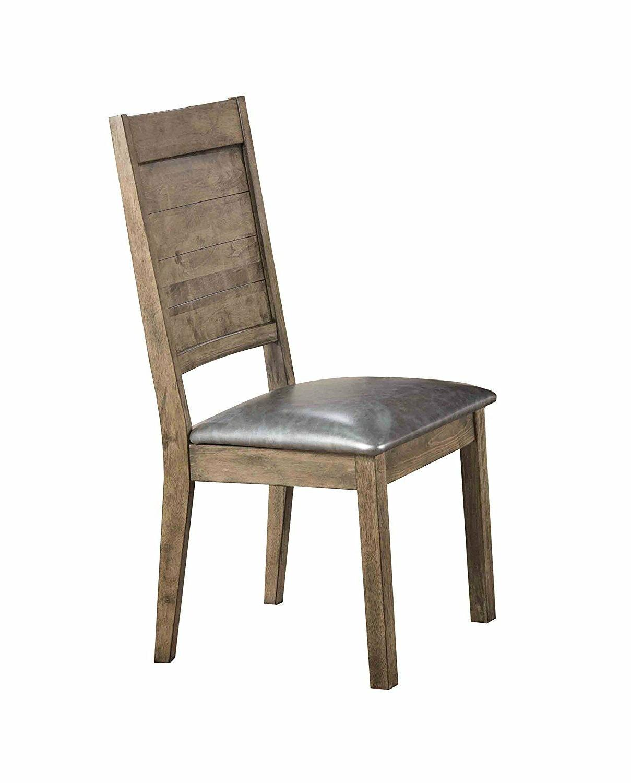 acme 72002 ramona side chair silver pu