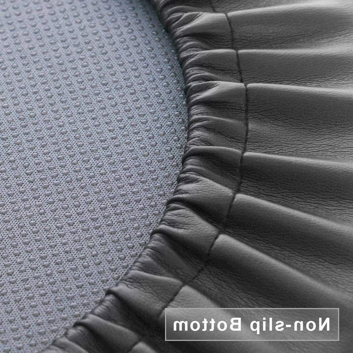"Bar Round Leather Foam Seat Salon Black 14"""