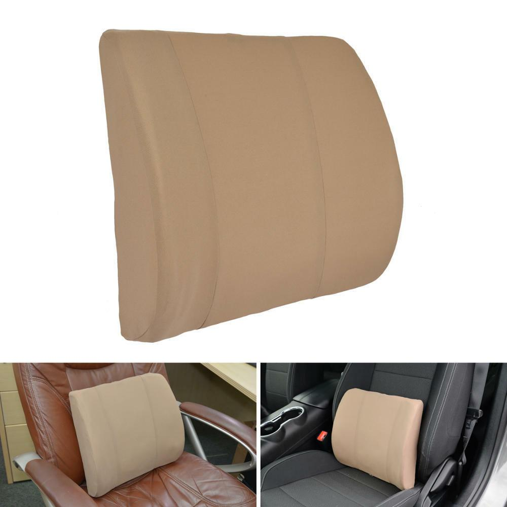 Beige Lumbar Back Support Car Seat Home Chair