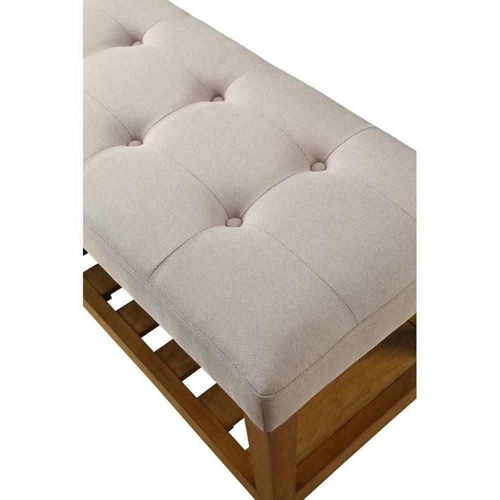 Bench Wood Duty Weather Resistant Sturdy