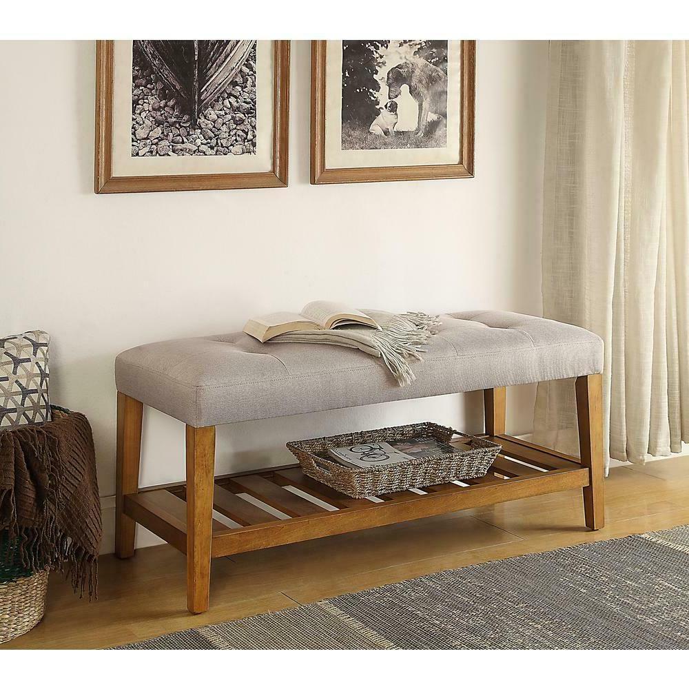 bench cushion foam seat wood shelf heavy