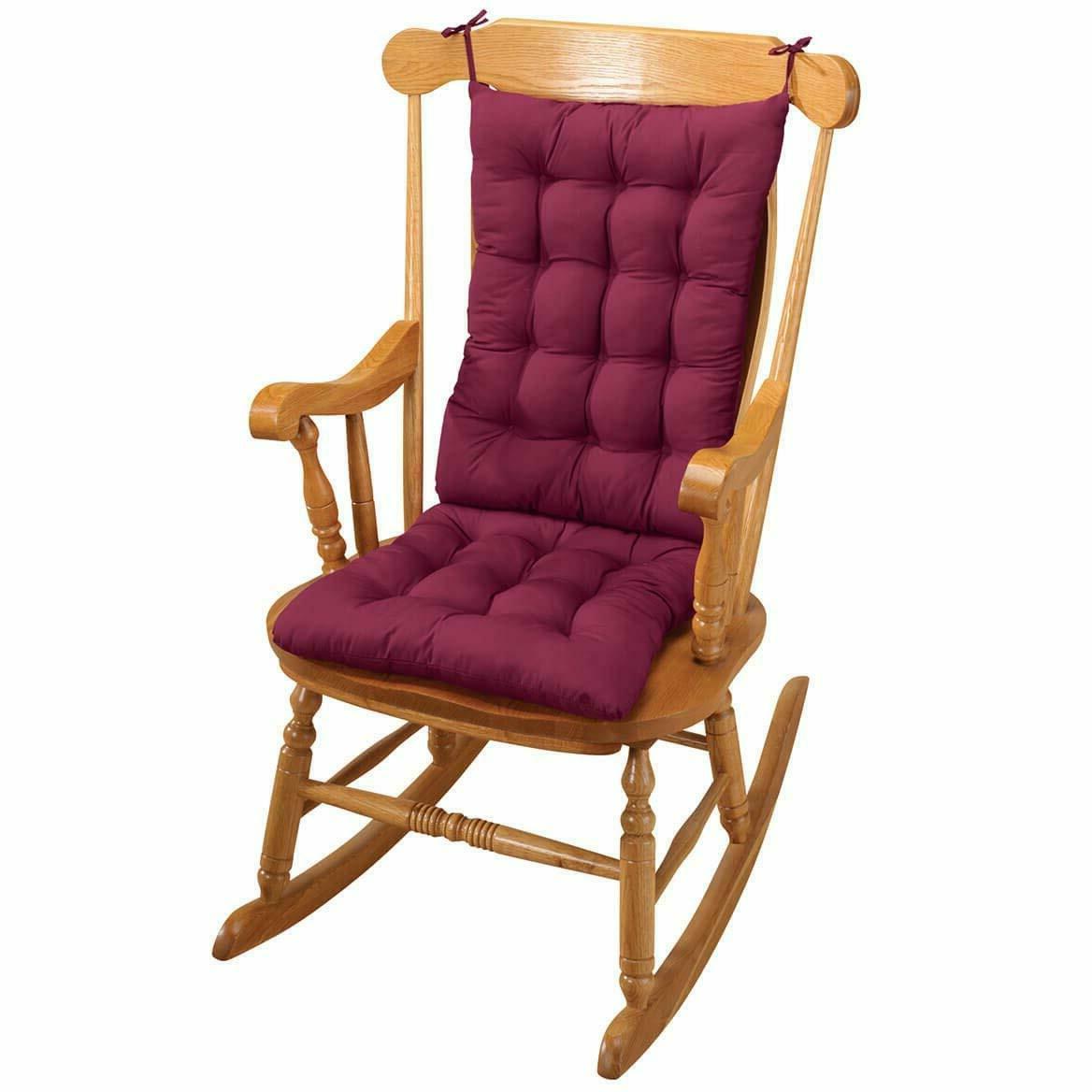 best two piece rocker rocking chair cushions