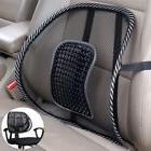 Black Mesh Back Lumbar Support Vent Cushion for Car Truck Se