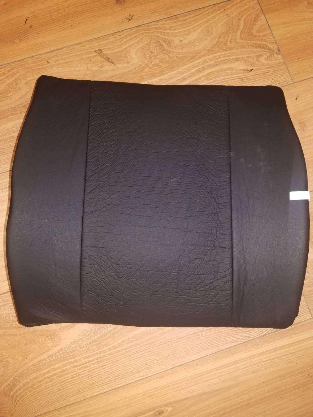 c50 black back cushion memory foam lumbar