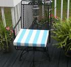 Cancun Blue White Stripe Chair Seat Cushion, Choose Size/Thi