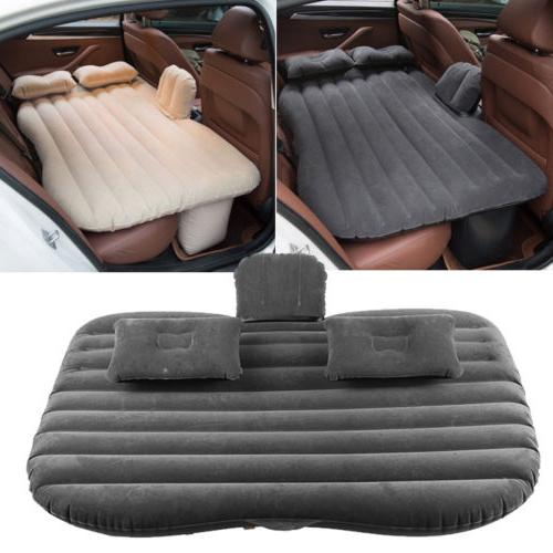 Car Air Bed Inflatable Mattress Back Seat Cushion Pillows Fo