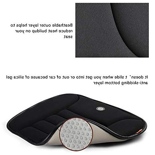 Car Seat Cushion for Car Driver Seat Office Home Memory Seat Cushion Black