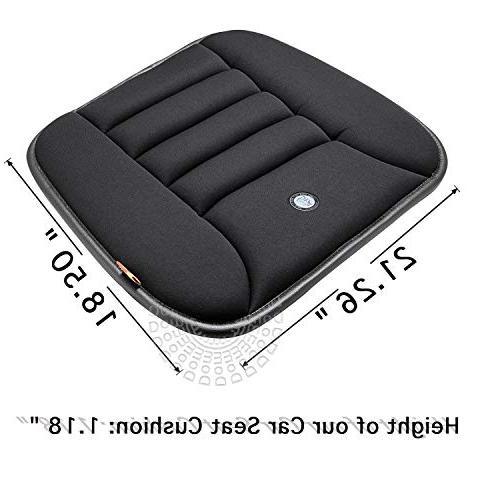 Car Seat Cushion for Memory Foam Black