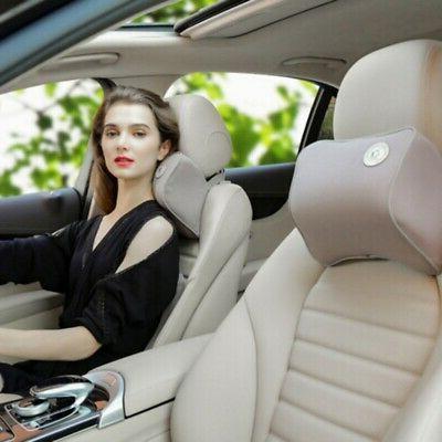 Car Headrest Memory Pillow Head Neck Rest Support Travel