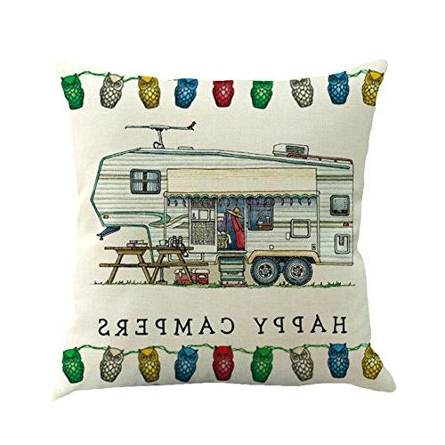 MOWANG Car Theme Pillow Case Home Decorative Cotton Cover 18Inch Pillow Covers,6 pack