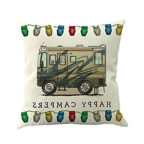 MOWANG Car Pillow Case Cotton Linen Throw Cover Sets X 18Inch Pillow Covers,6 pack
