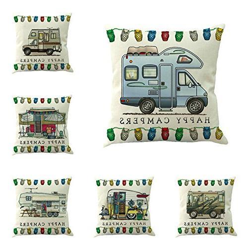 car theme square pillow case