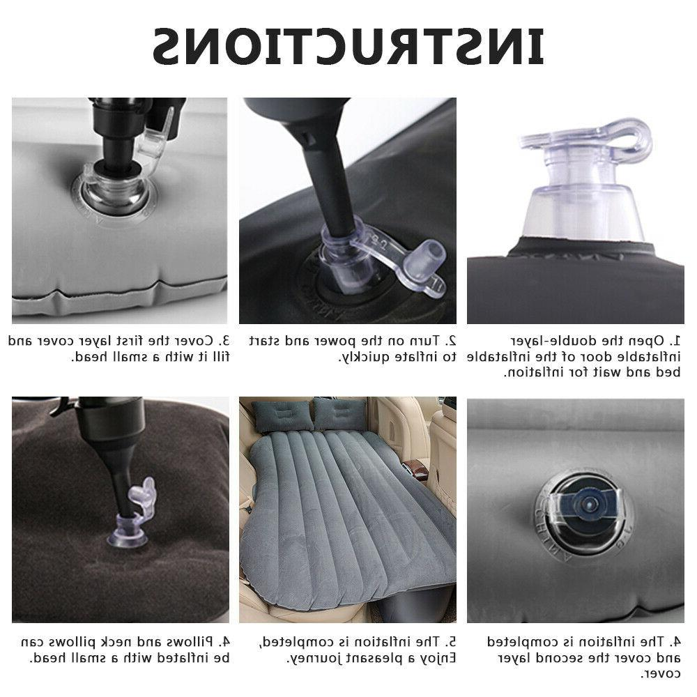 Car Travel Inflatable Air Mattress Back Seat Bed