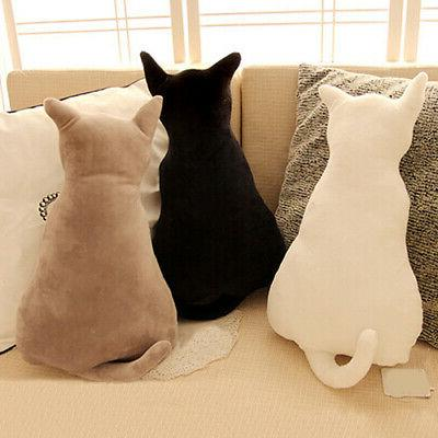 Cat Soft Plush Back Shadow Toy Sofa Pillow Seat Cushion Birt