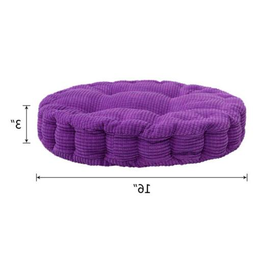 Chair Cushion Pad Thick Corduroy Seat Round/Square Patio Car Office Mat