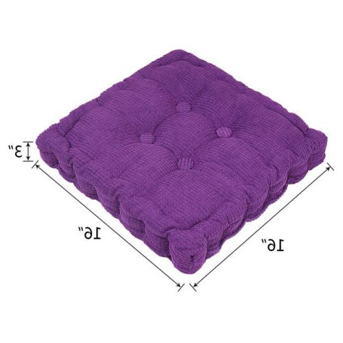 """Chair 3"""" Thick Corduroy Round/Square Patio Car Home Mat"""