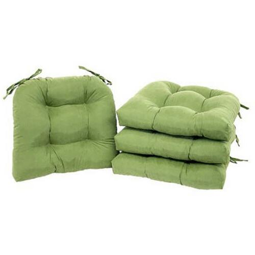 CHAIR CUSHIONS SET OF With Ties Durable Dining