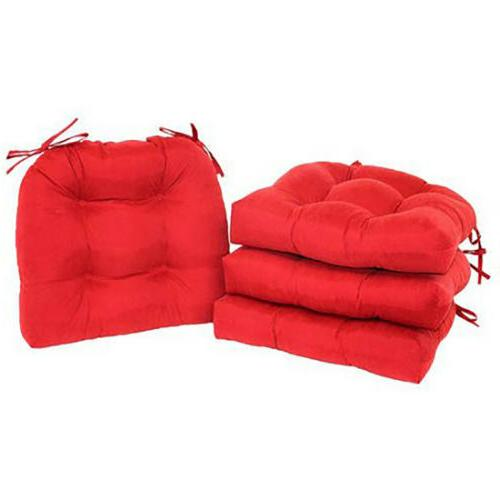 CHAIR CUSHIONS 4 Microfiber Pad With Dining