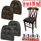 chair pad cushion faux leather tufted set