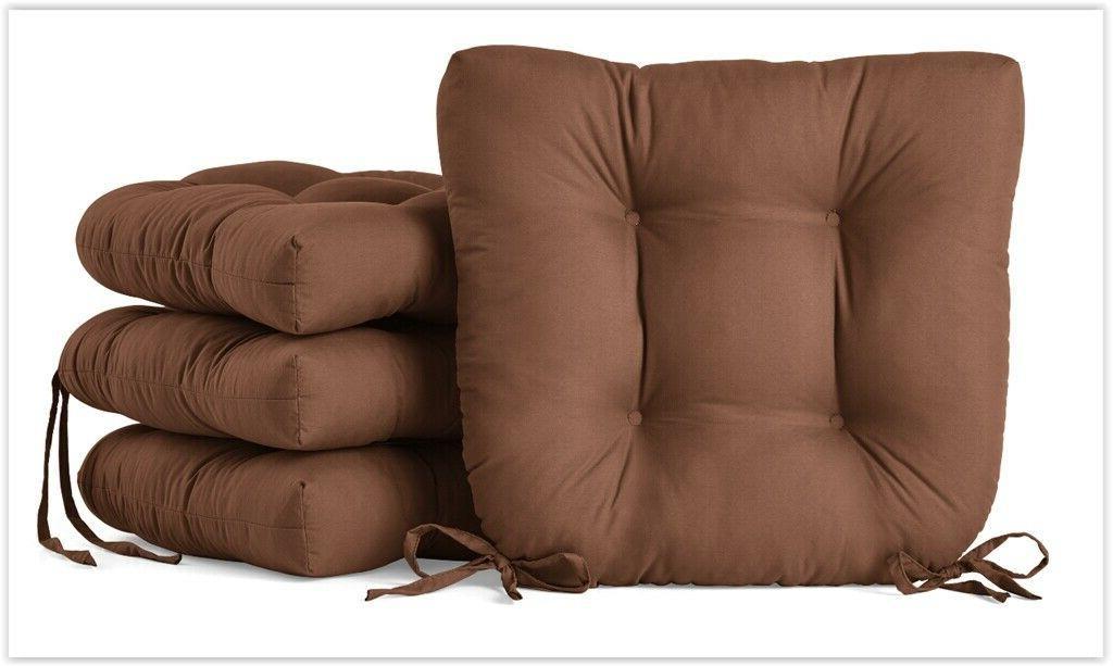 Chair Seat w/Ties Room 4-Pack