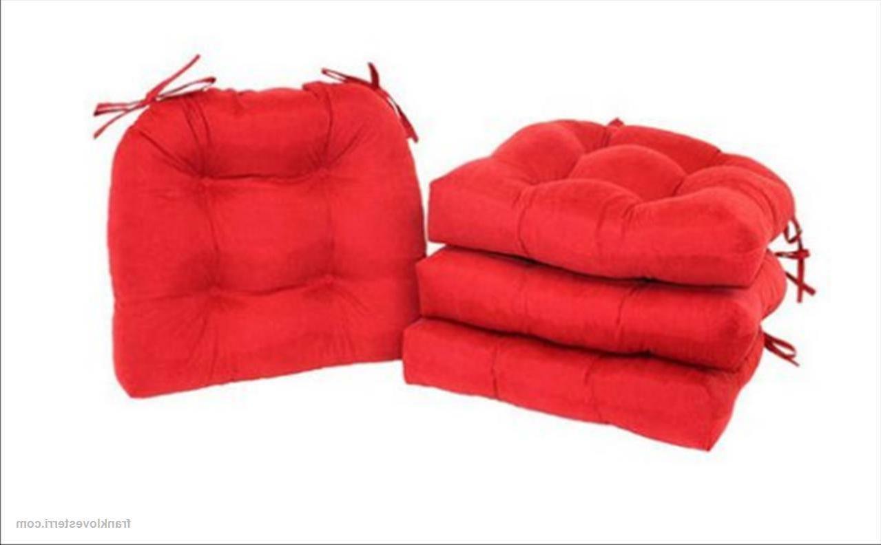 Chair Seat Pads w/Ties 4-Pack