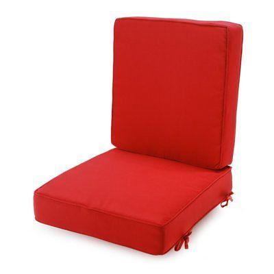 classic hinged outdoor deep seating cushion