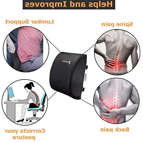 Pillow Memory Cushion Set Pillow and Backrest | Non-Slip Bottom Mesh Cover | Non-Sliding