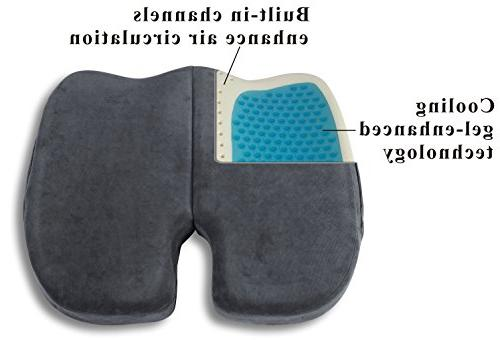 Extra-Large Coccyx Orthopedic Gel-enhanced Foam Cushion