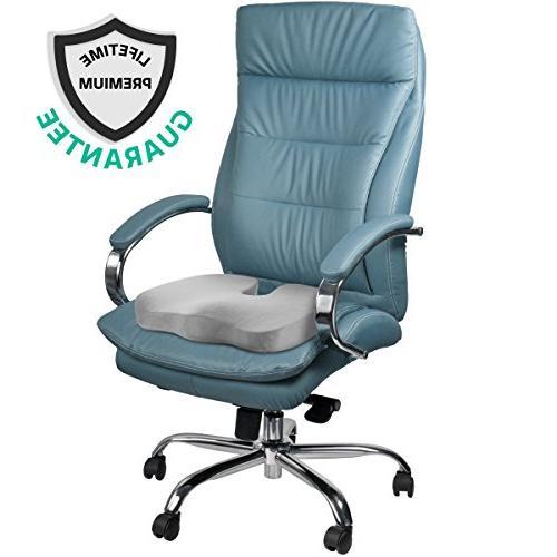 ZIRAKI Foam Chair Pillow Relief Tailbone Comfort Ideal Gift for Home Office Driver