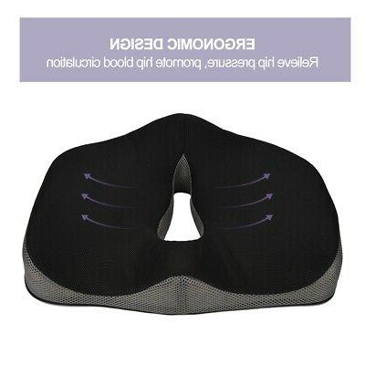 Coccyx Orthopedic Memory Foam Seat Car Cushion US