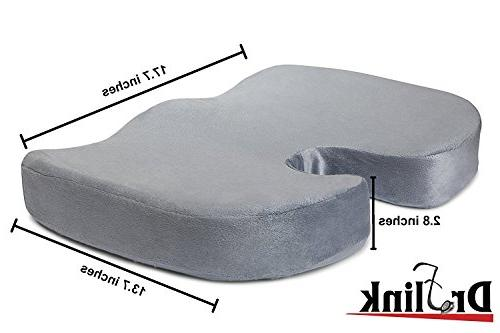 Dr. Flink Coccyx Cushion Tailbone Pain Pillow, Cool Memory Comfort & Support & & for Home, Office,