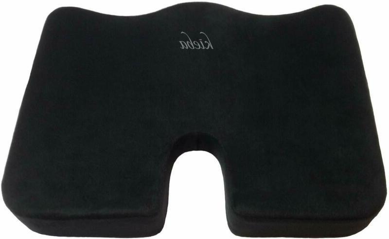 Kieba Coccyx Seat Cushion, Large Orthopedic Tailbone Pillow.