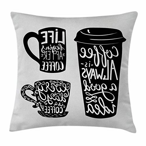 coffee throw pillow cushion cover