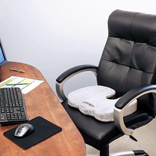 Comfy Cure Coccyx Foam Cushion Top Premium Grade Orthopedic Back/Tailbone Pain Relief - Office Chair Seat Cushion