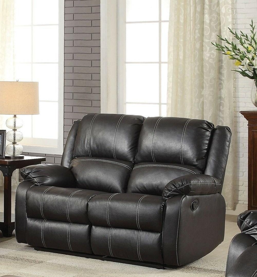 Contemporary Black Plush Back Seat Chair Arms