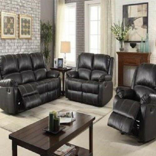 Contemporary Black Color Plush Back Cushions Arms