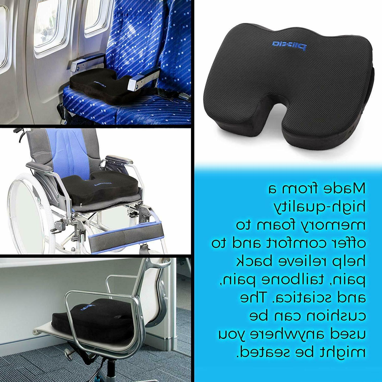 Plixio Cushion Foam Coccyx Car & Chair Pillow Orthopedic