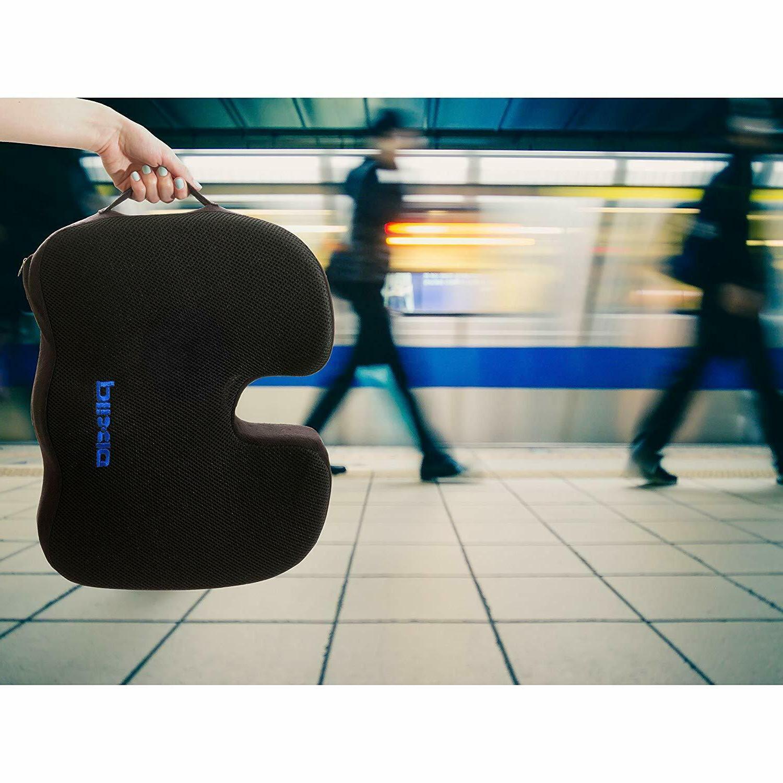 Plixio Gel Seat Cushion Memory Coccyx Car & Orthopedic