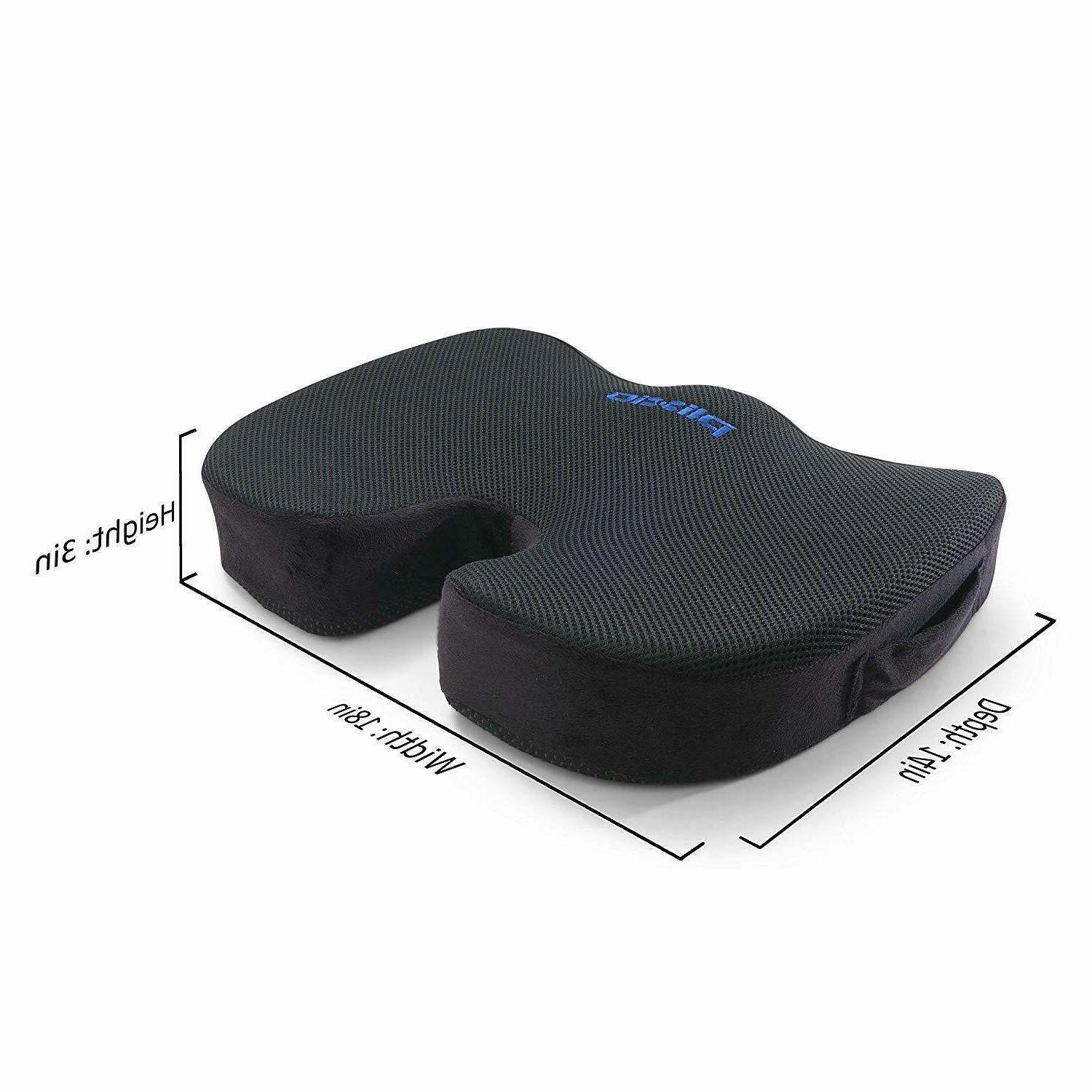 Plixio Cooling Gel Seat Cushion Coccyx Car Chair Orthopedic