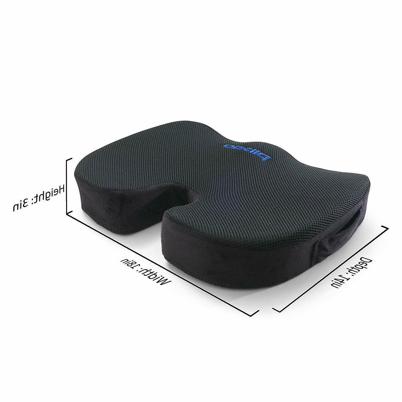 Plixio Cooling Gel Seat Cushion Coccyx Car Chair Orthopedic