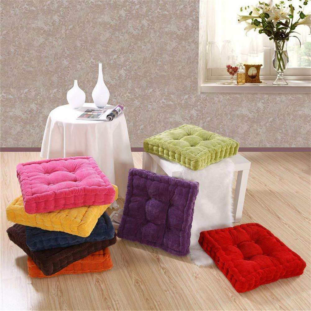 Corduroy Office Chair Pad Seating Pillow Floor Cushions