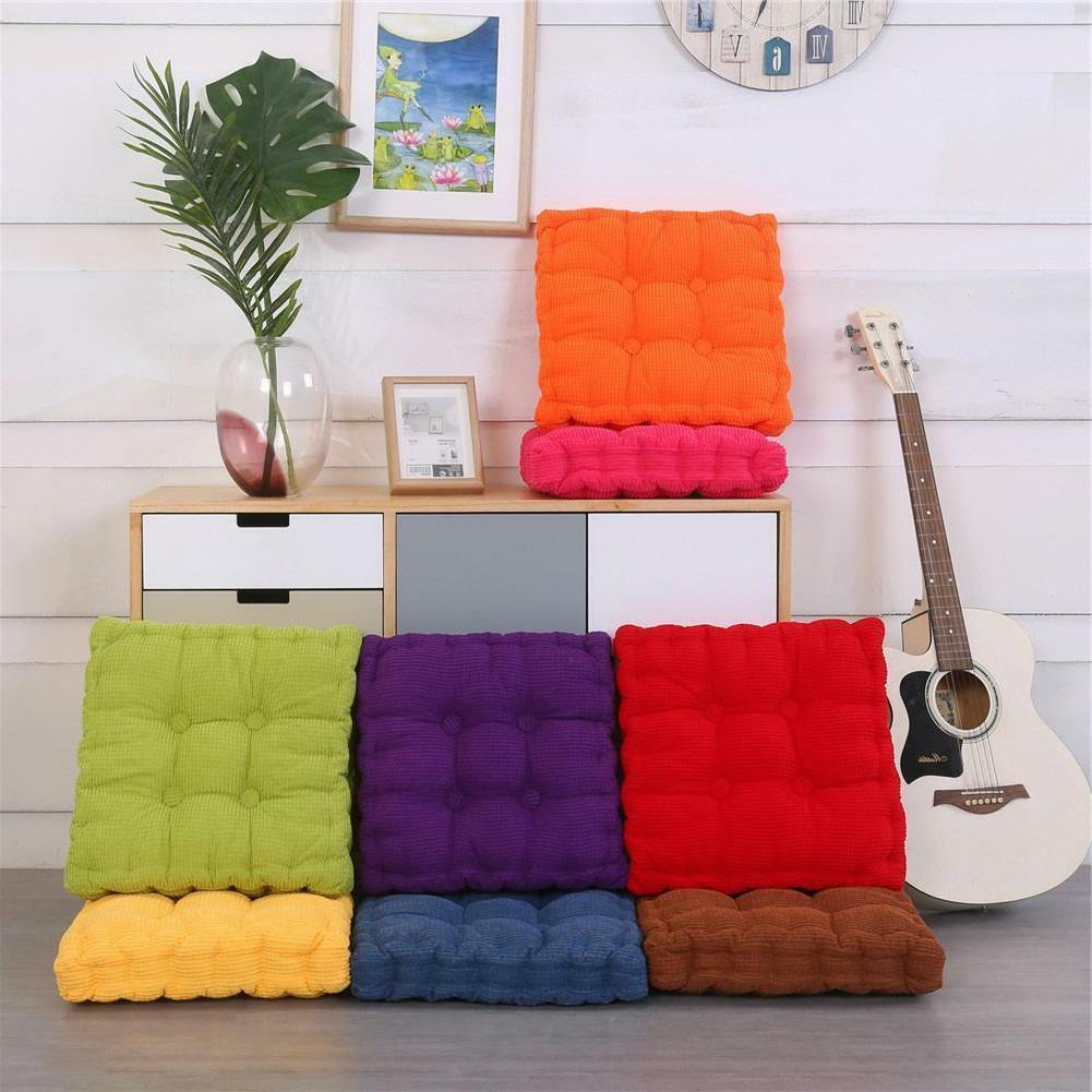 Corduroy Square Office Chair Seating Tatami Pillow Floor Cushions