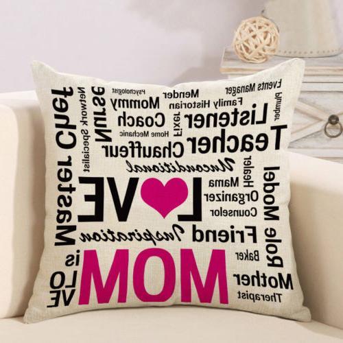 Cotton Decorative Throw Case Sofa Cushion