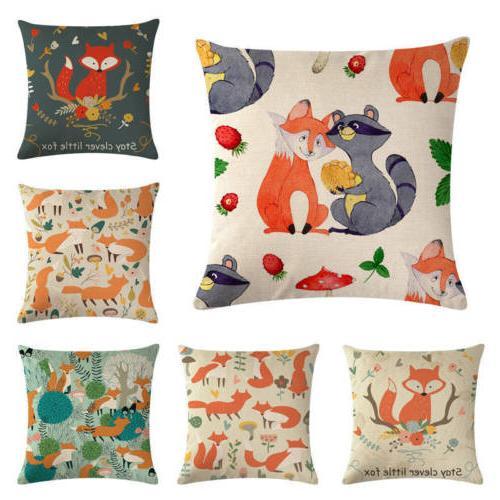 Cotton Decorative Throw Pillow Case