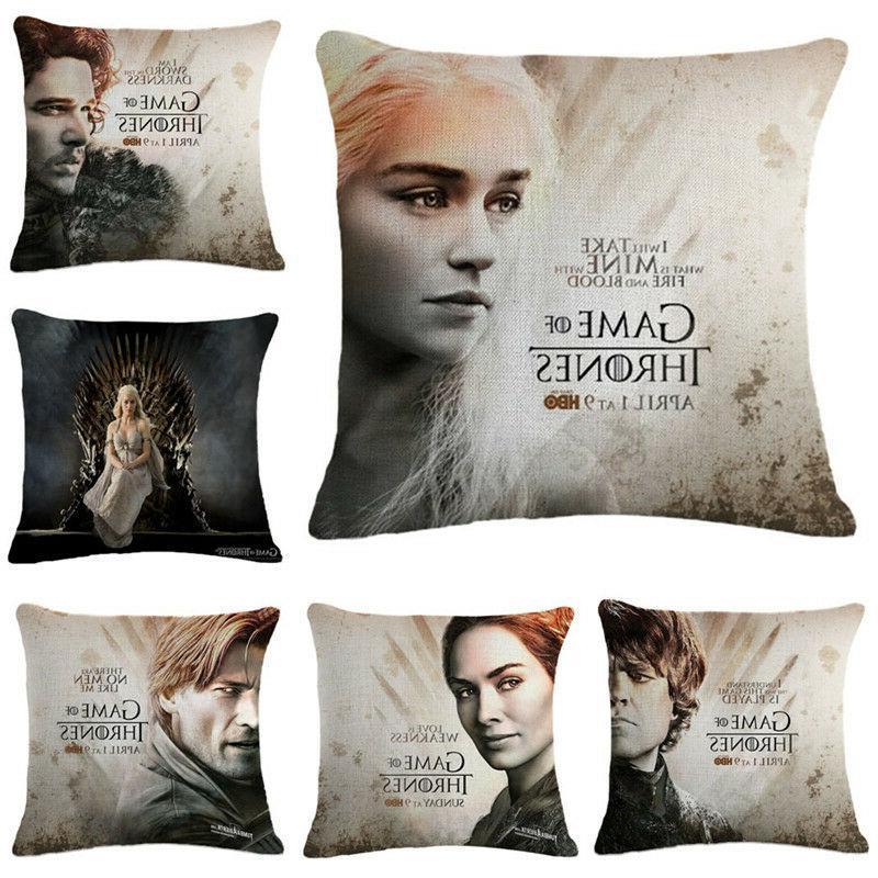 cushion cover game of thrones pillowcase cotton