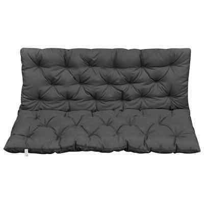 vidaXL Chair Anthracite Fabric Seat Pillow