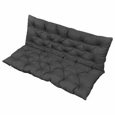 cushion for swing chair anthracite fabric hanging