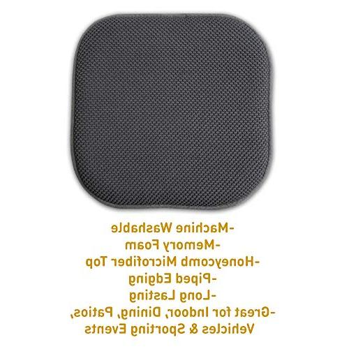 """Sweet Home Cushion Memory Honeycomb Cover 16"""" 6 Pack, Charcoal"""