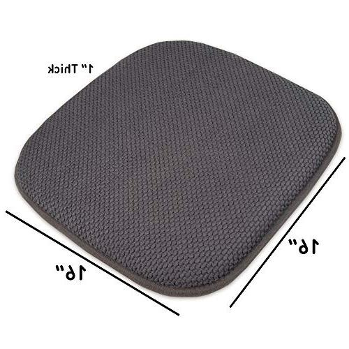 Sweet Memory Foam Chair Honeycomb Cover x 6 Pack, Gray